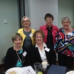 Bonnie Smith, Susan Kimball, Gayle Wood and in back Jane Close and Ardelle Brown at the State conference.
