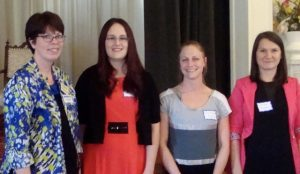 2016 Cedar Falls - Waterloo AAUW Branch Scholarship winners.